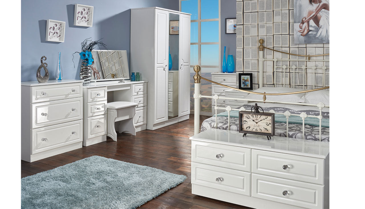Ferndale Double Wardrobe With Mirrors And 2 Drawers