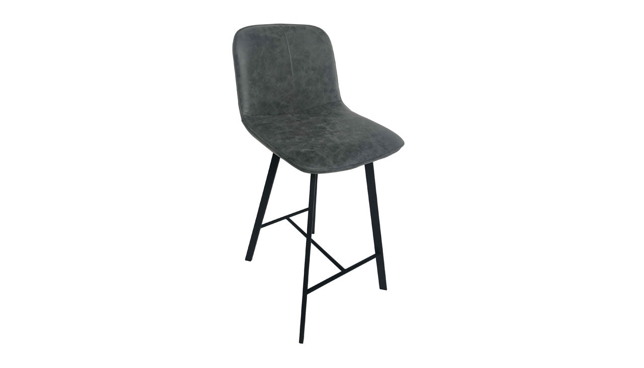 Tetro Concrete Effect Bar Table and 2 Bar Stools - AHF Furniture & Carpets