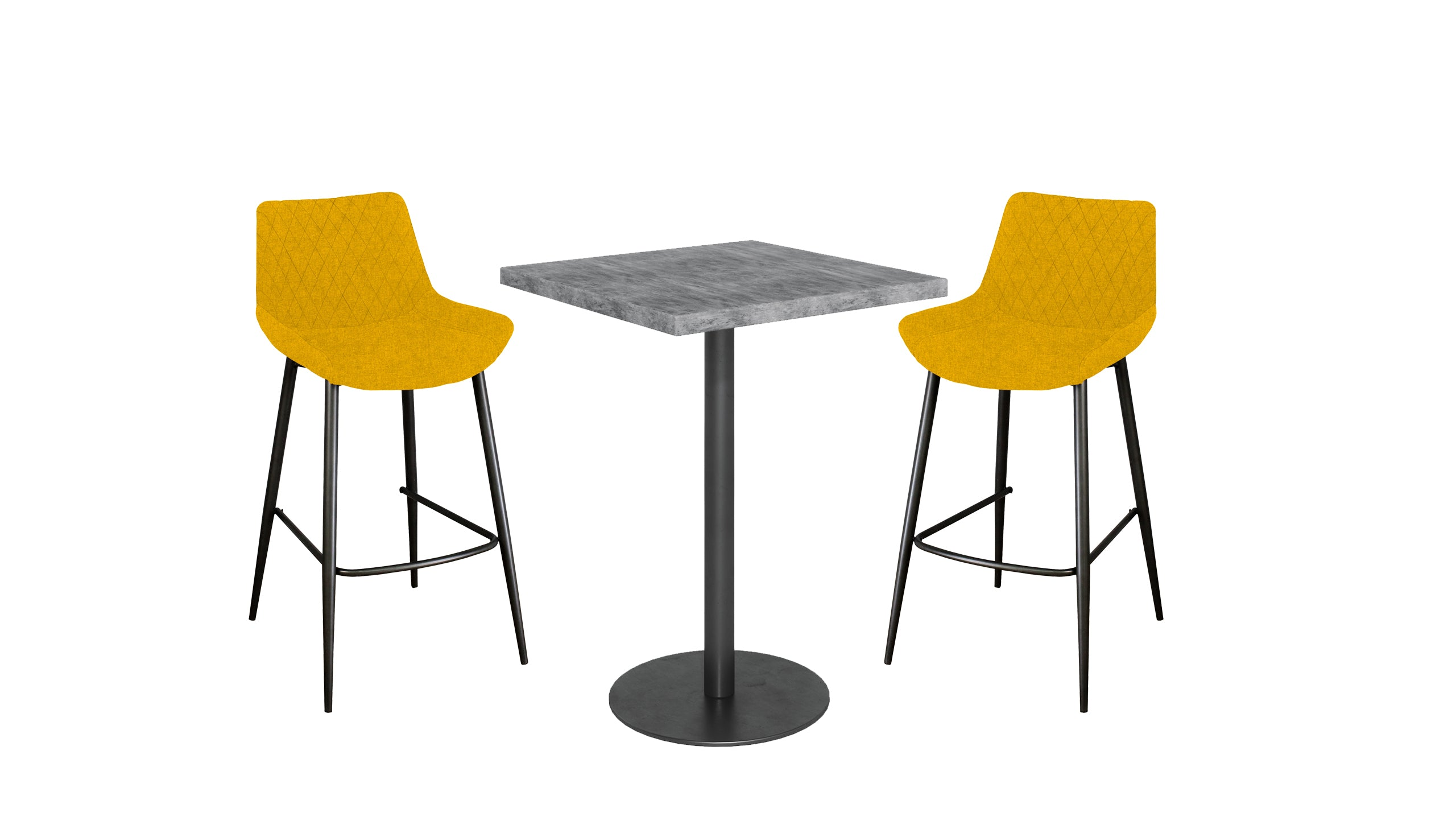 Brooklyn Concrete Bar Table and Bar Stools