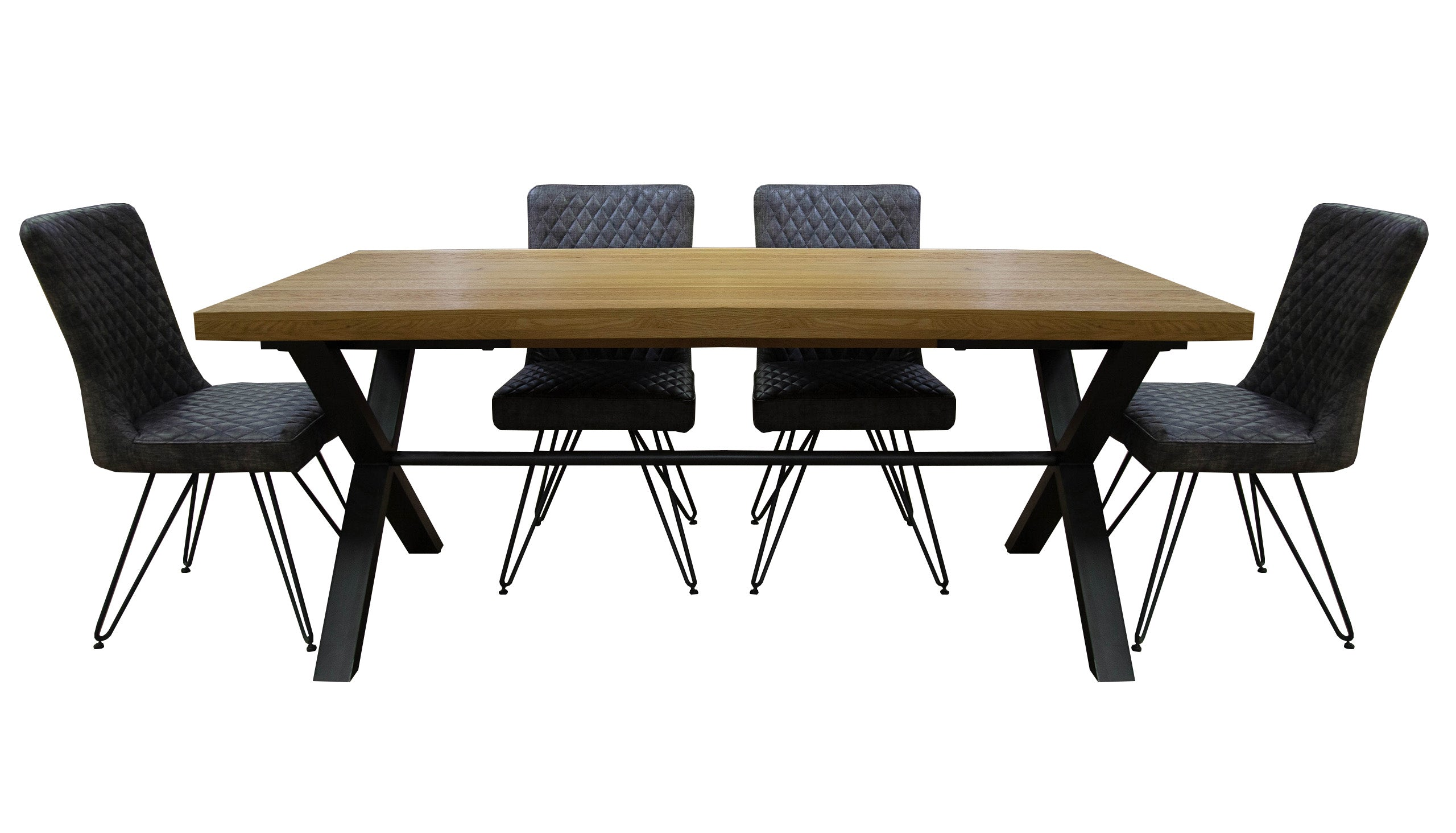 Brooklyn Oak Small Dining Table with 4 Chairs