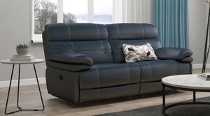 Corsica 3 Seater Recliner Sofa with Adjustable Headrest in Leather