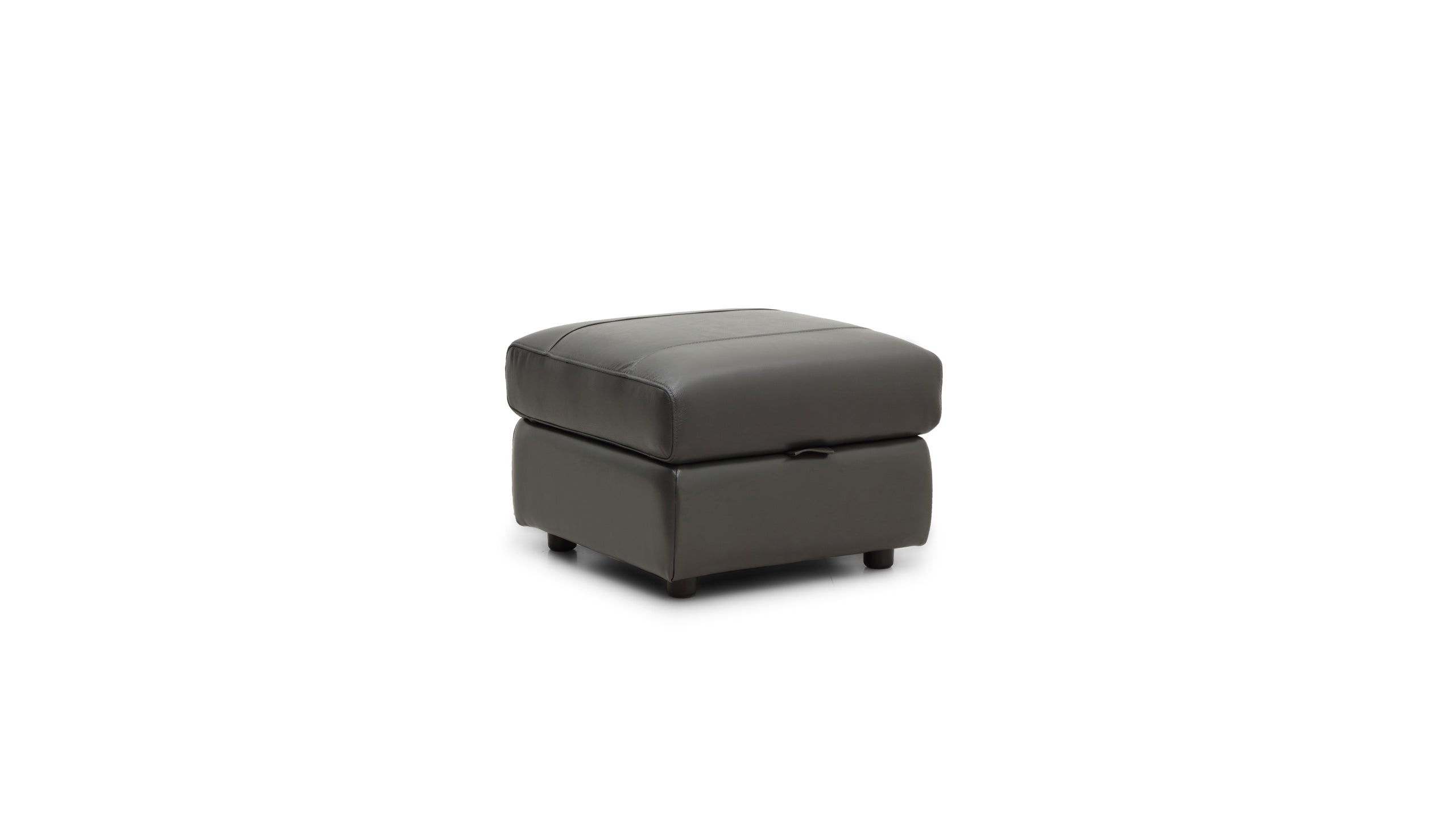 Blair Storage Footstool in Leather