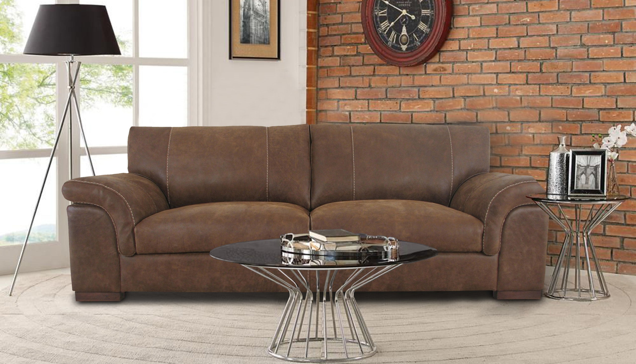 Guy 4 Seater Sofa in Leather