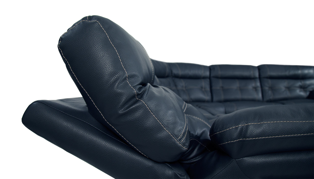 Corsica Recliner Chair With Adjustable Headrest in Leather