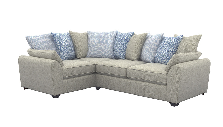 Zara Right Hand Facing Scatter Back Corner Sofa