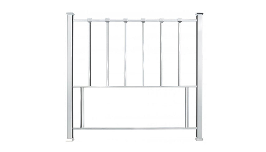 Rouen Shiny Nickel Bed Frame