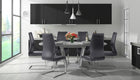 Stockholm Grey Extending Dining Table