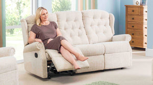 Celebrity Woburn 3 seater recliner sofa with lever