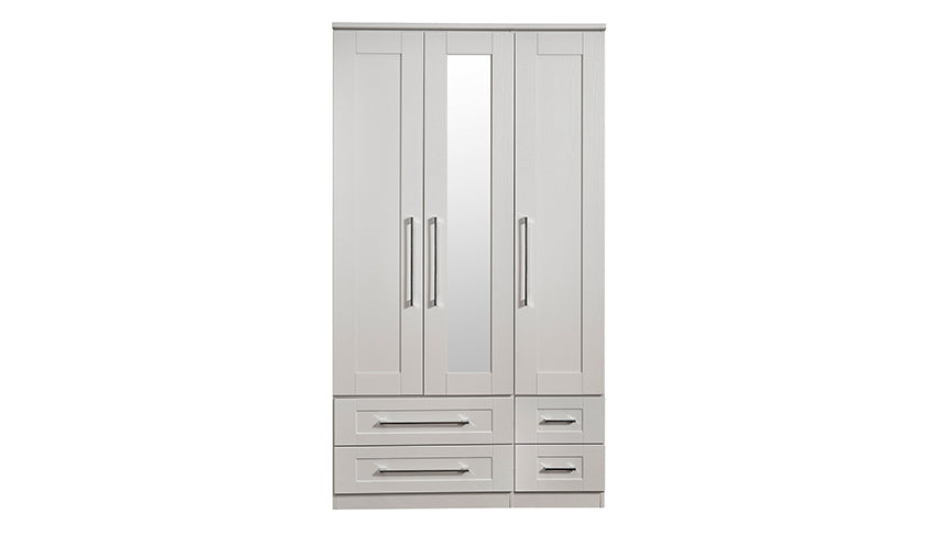 Porter 3 Door 4 Drawer 1 Mirror Wardrobe