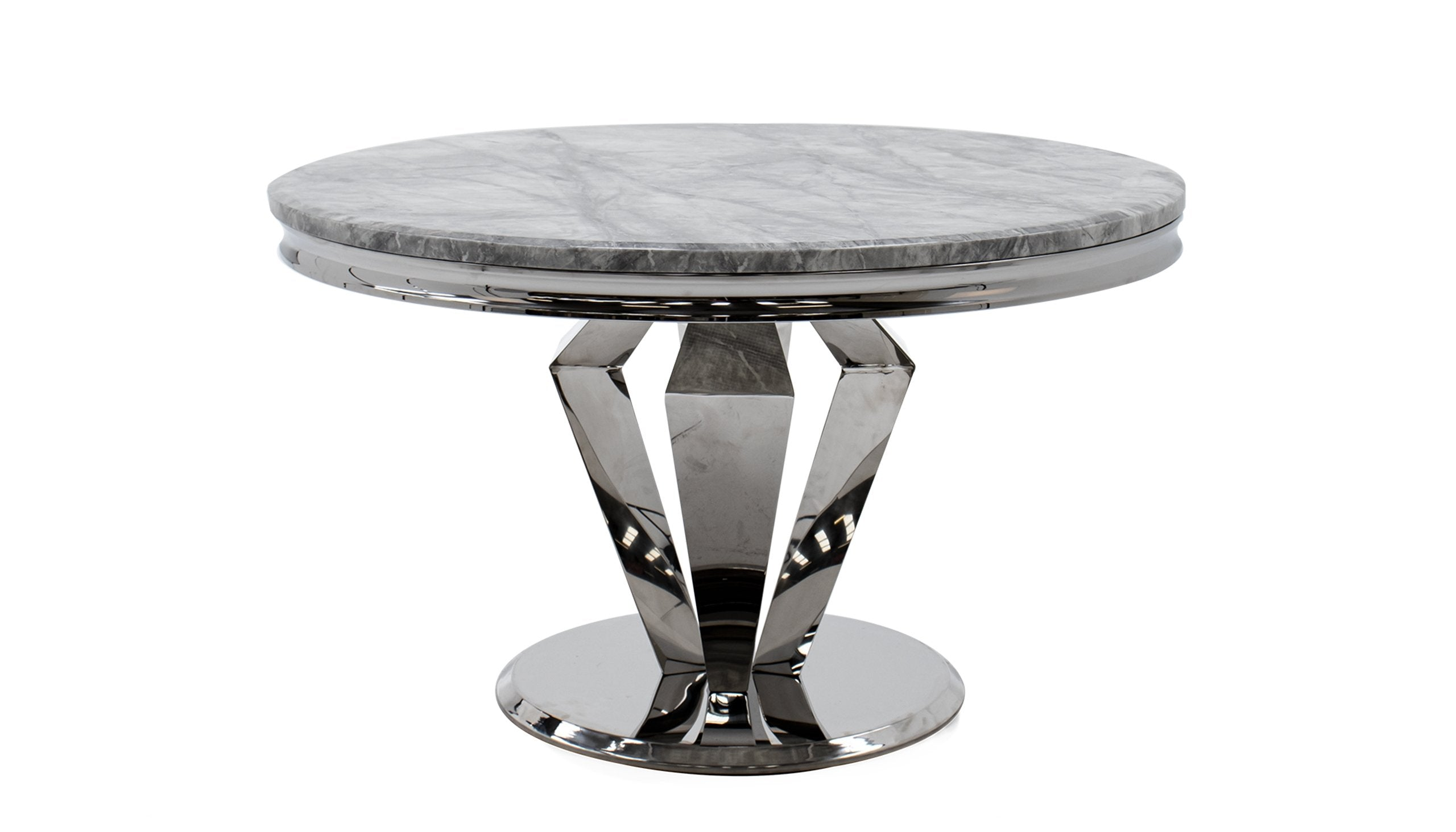 Amour 1.3m Marble Round Dining Table - AHF Furniture & Carpets