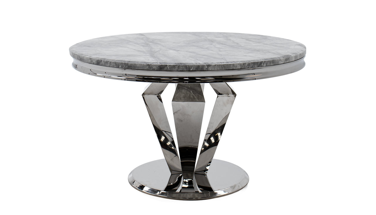 Amour 1.3m Marble Round Dining Table