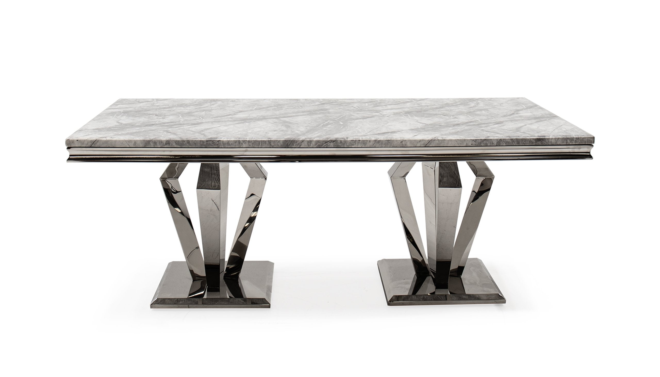 Amour 2m Marble Dining Table - AHF Furniture & Carpets