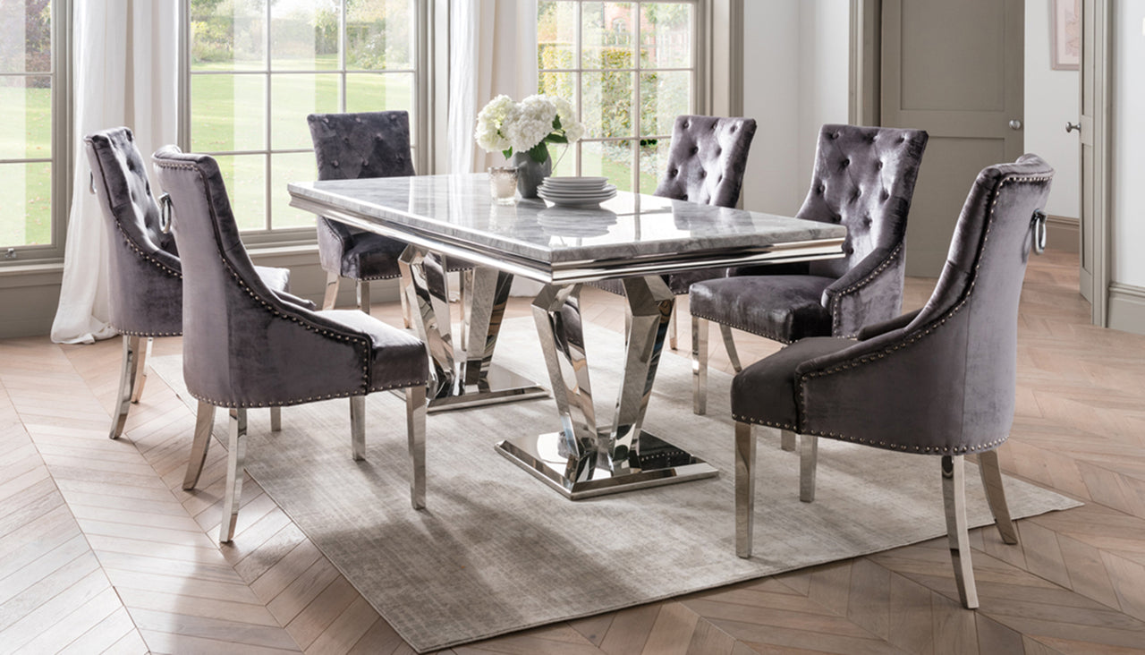 Picture of: Amore 1 8m Silver Grey Dining Table Ahf Furniture Ahf Furniture Carpets