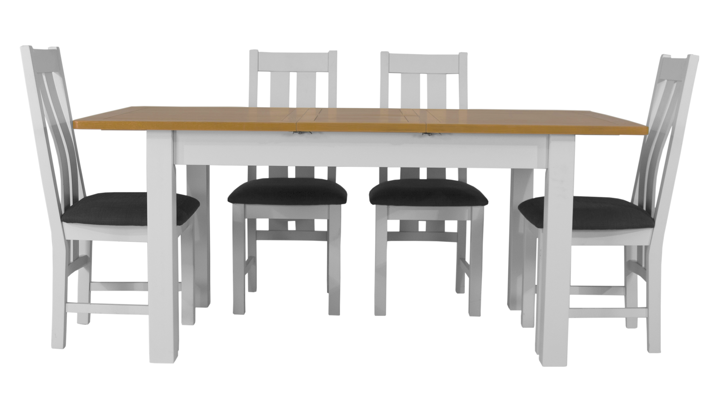 Arlington Two Tone Extending Dining Table with 4 Chairs - AHF Furniture & Carpets