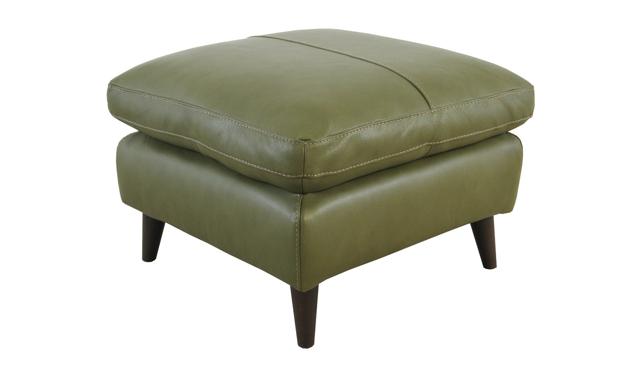 Betty Banquette Footstool in Leather