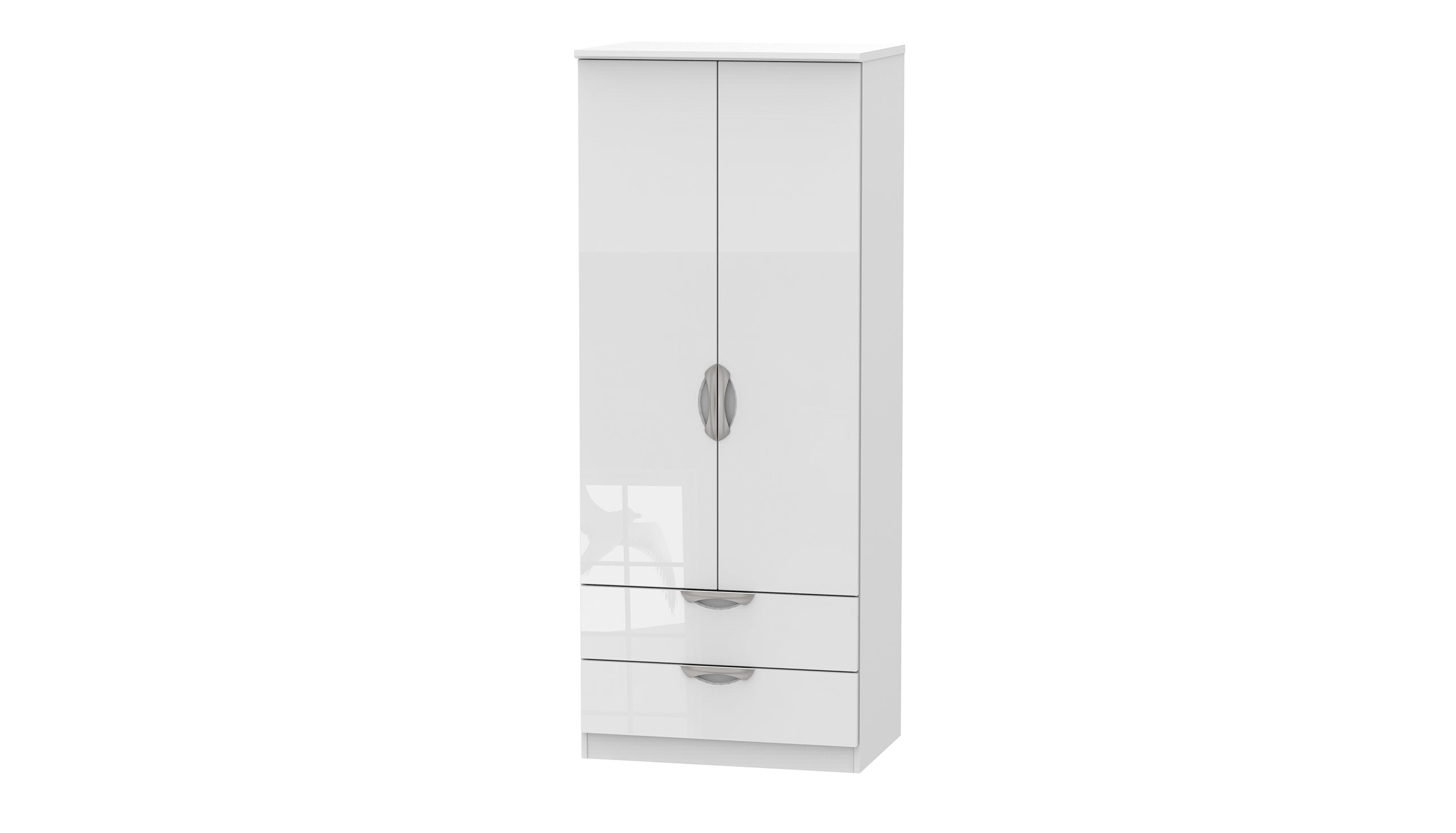 Moda Double 2 Drawer Wardrobe - AHF Furniture & Carpets