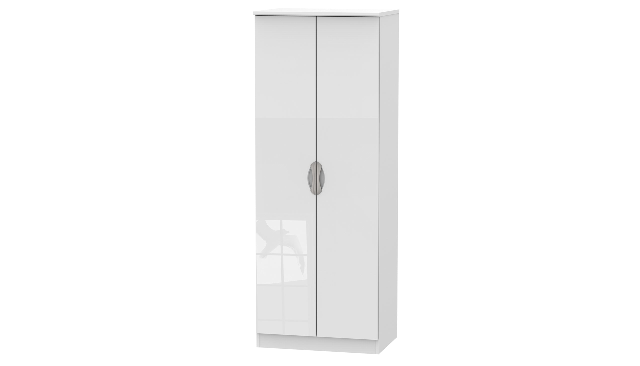 Moda Tall Double Hanging Wardrobe - AHF Furniture & Carpets