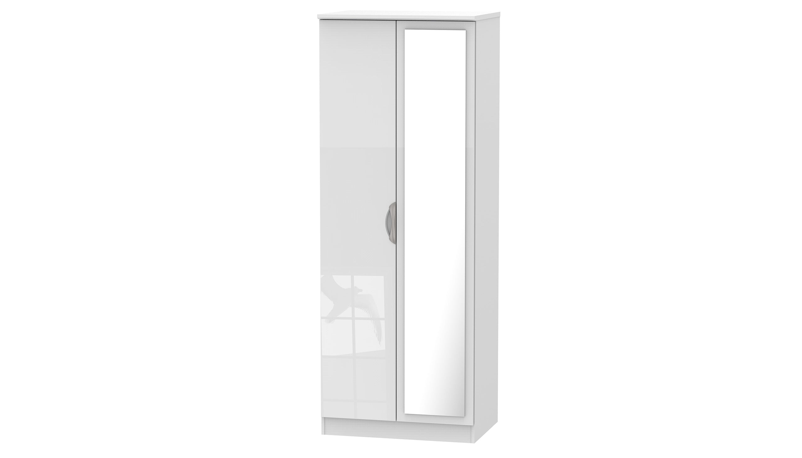 Moda Tall Double 1 Mirror Wardrobe - AHF Furniture & Carpets