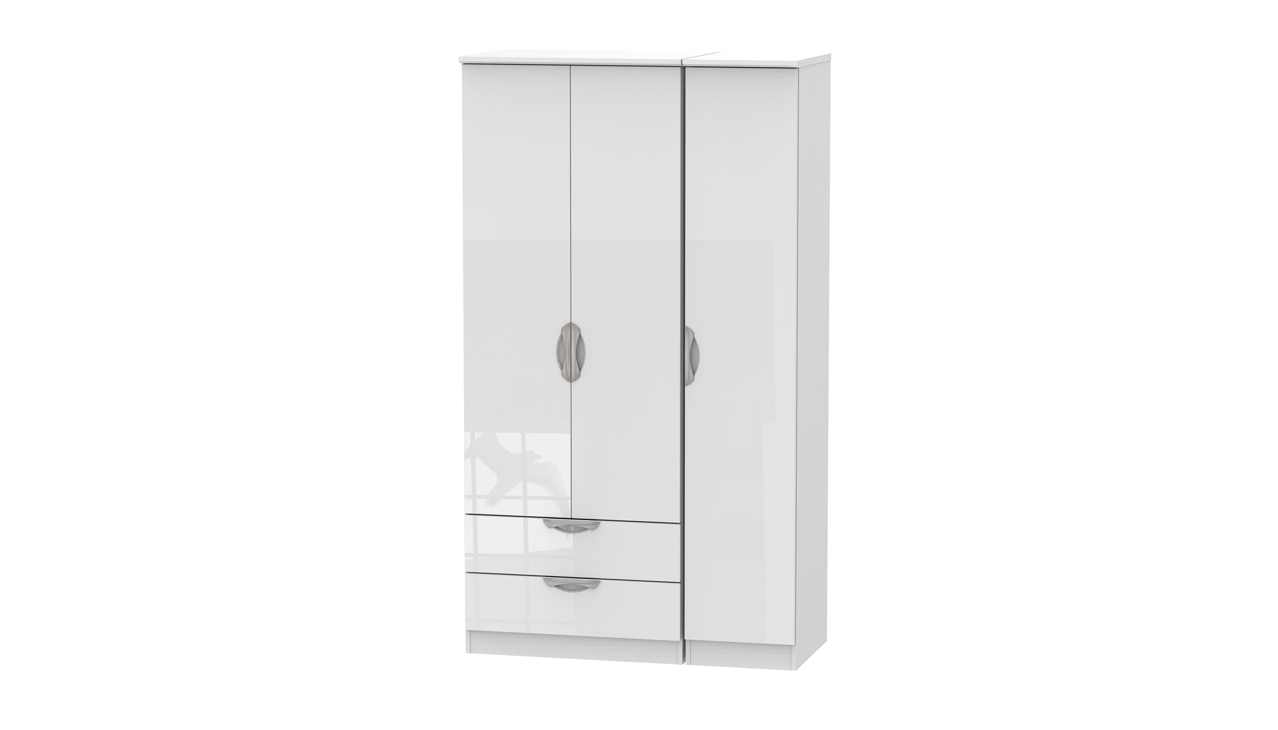 Moda Tall 3 Door 2 Drawer Wardrobe - AHF Furniture & Carpets