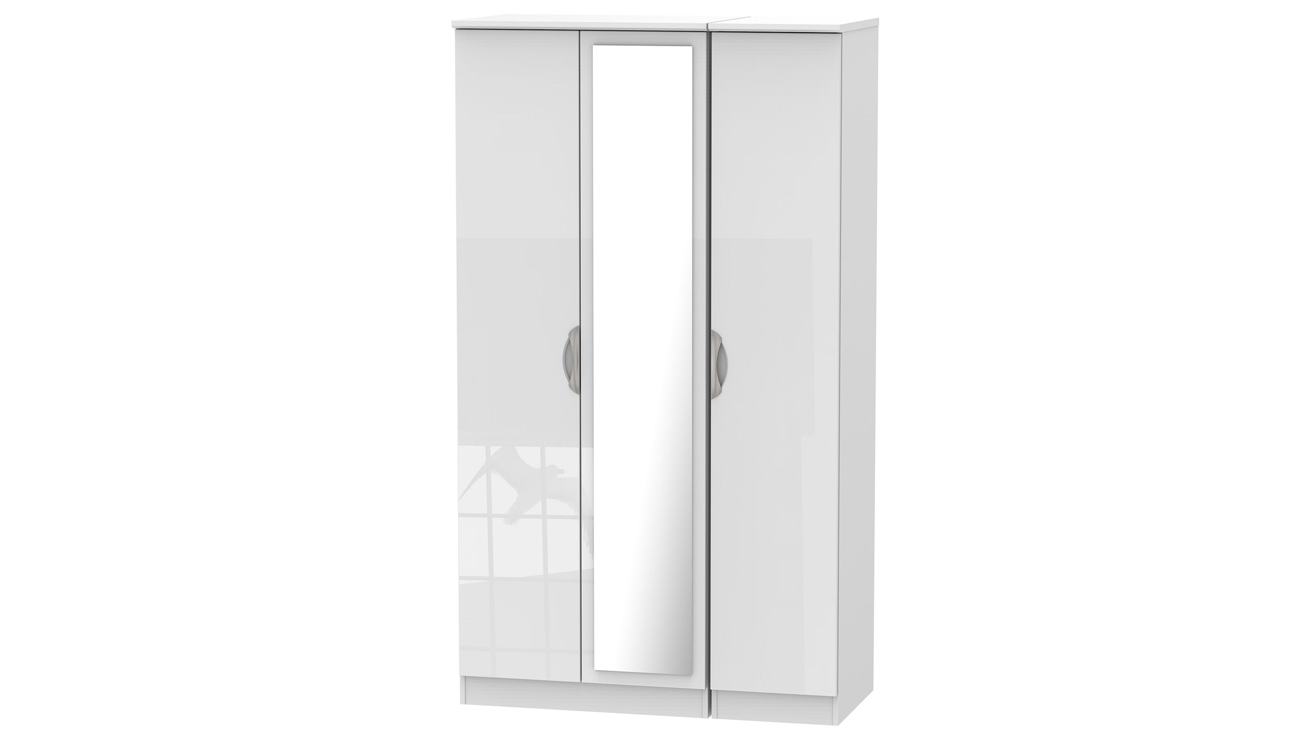 Moda Tall 3 Door 1 Mirror Wardrobe - AHF Furniture & Carpets