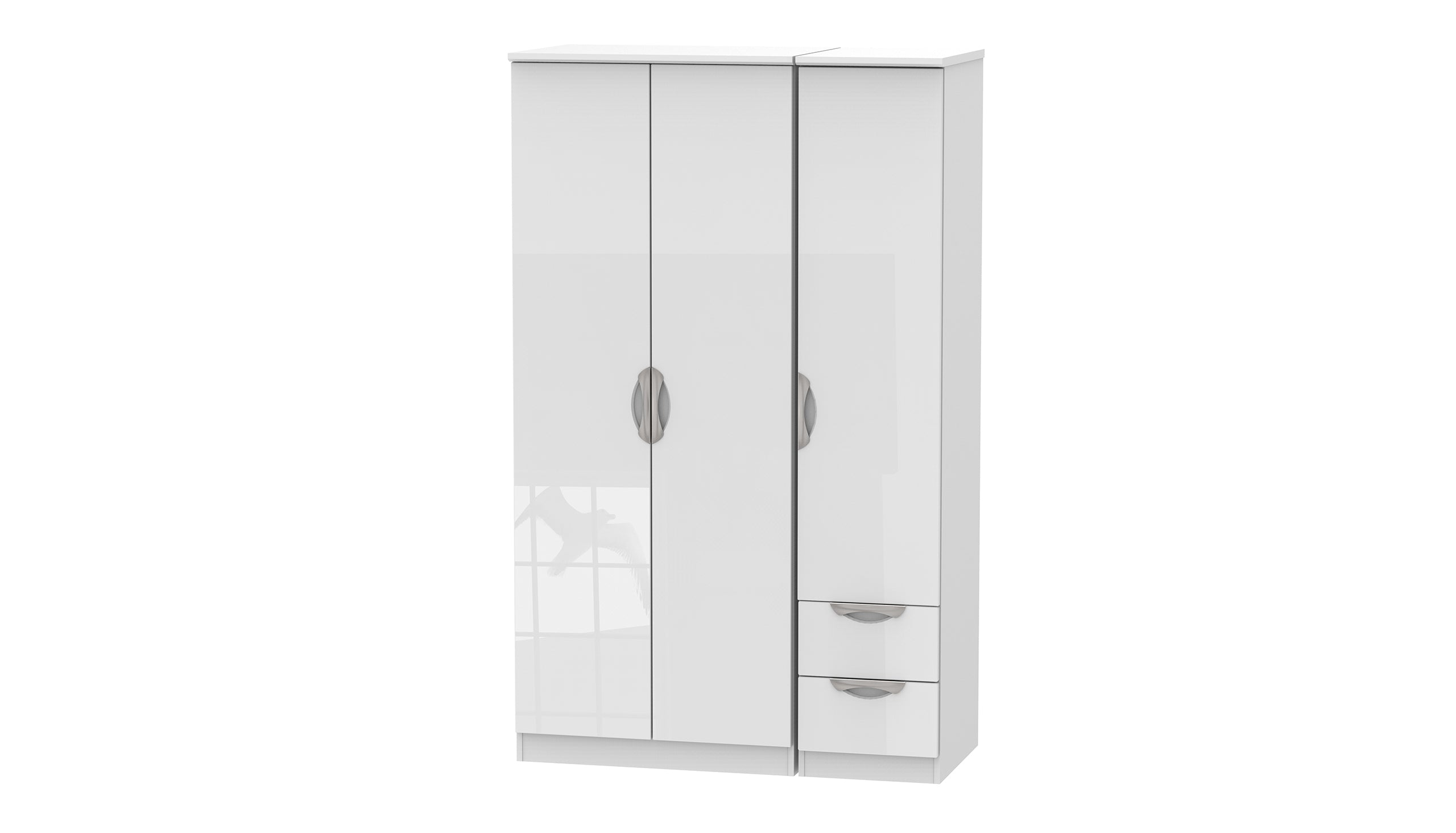 Moda 3 Door 2 Small Drawer Wardrobe - AHF Furniture & Carpets