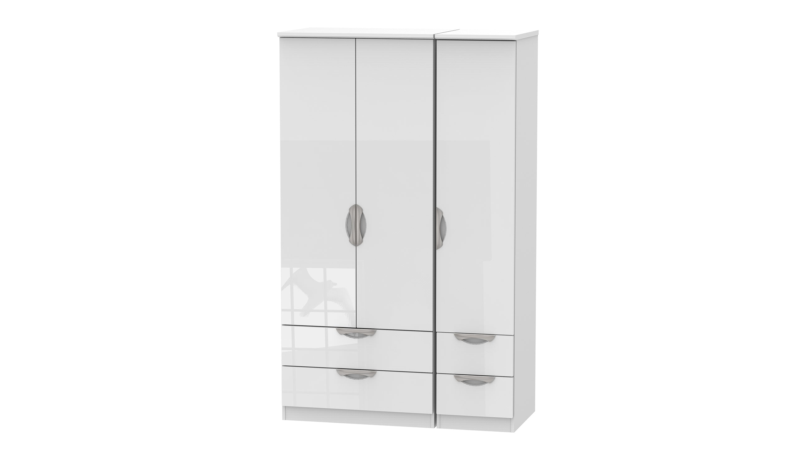 Moda 3 Door 4 Drawer Wardrobe - AHF Furniture & Carpets