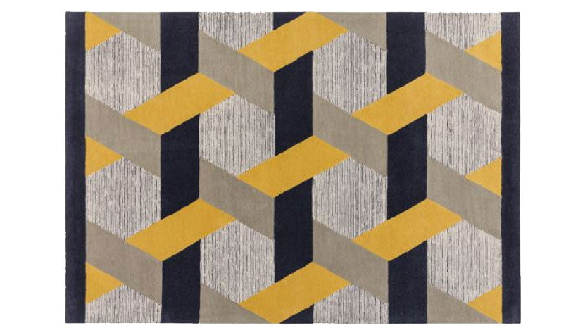 Camden Mustard Rug - AHF Furniture & Carpets