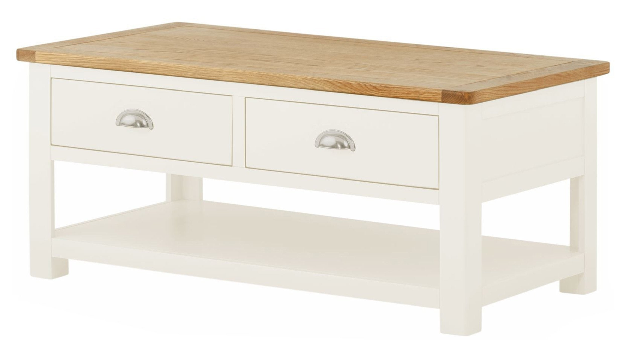 Arlington Two Tone Coffee Table with Drawers - AHF Furniture & Carpets