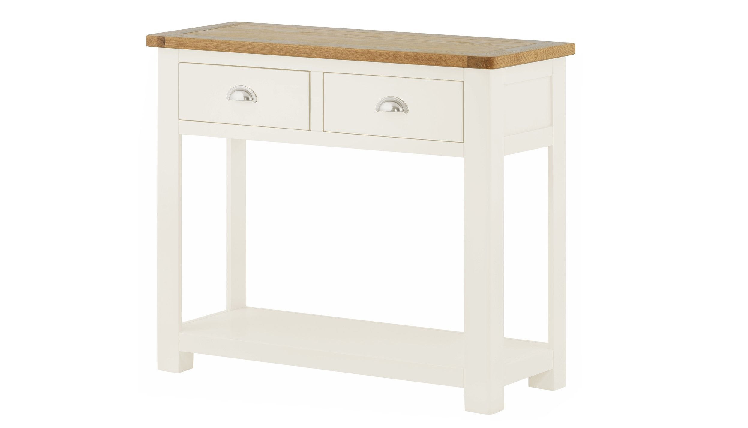 Arlington Two Tone 2 Drawer Console Table - AHF Furniture & Carpets