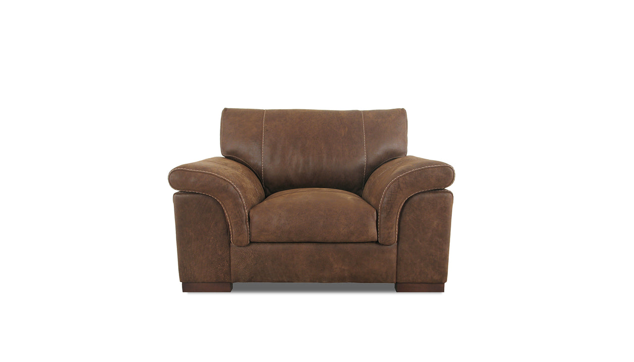 Guy Cuddle Chair in Leather
