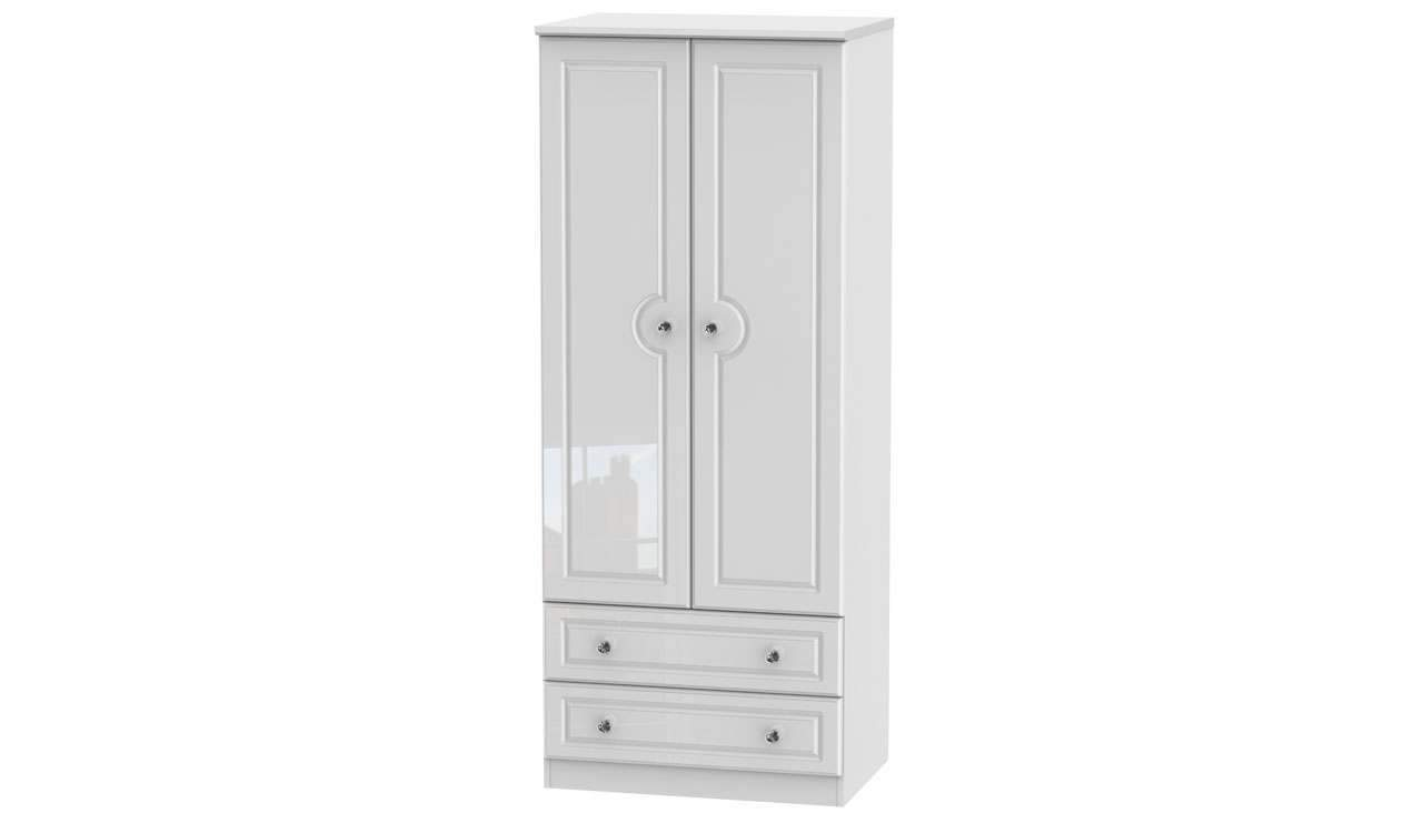 Ferndale Double Wardrobe With 2 Drawers - AHF Furniture & Carpets