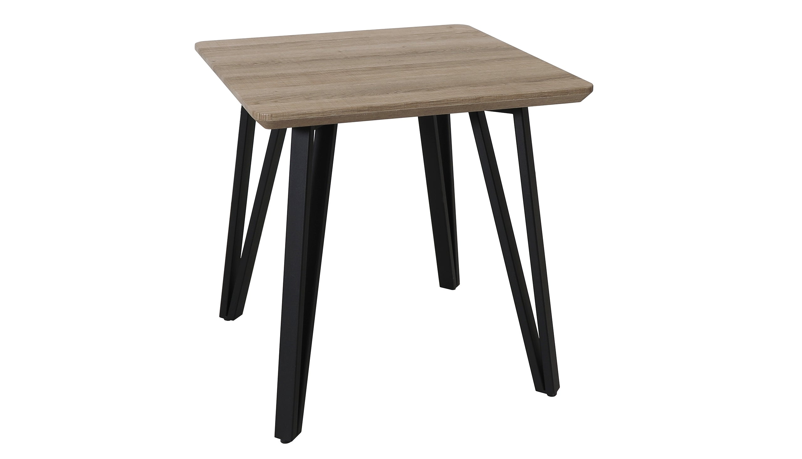 Tetro Grey Wood Effect Side Table - AHF Furniture & Carpets