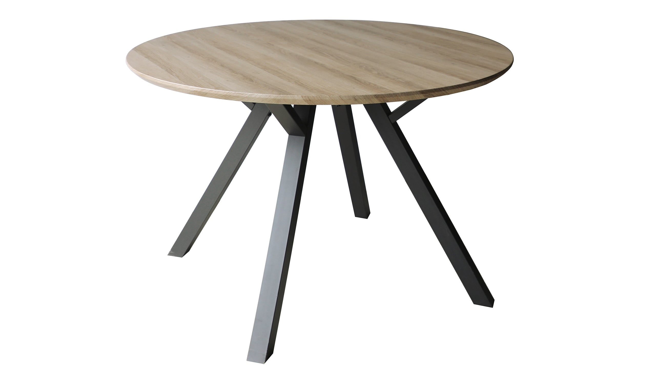 Tetro Grey Wood Effect Round Dining Table with 4 Dining Chairs - AHF Furniture & Carpets