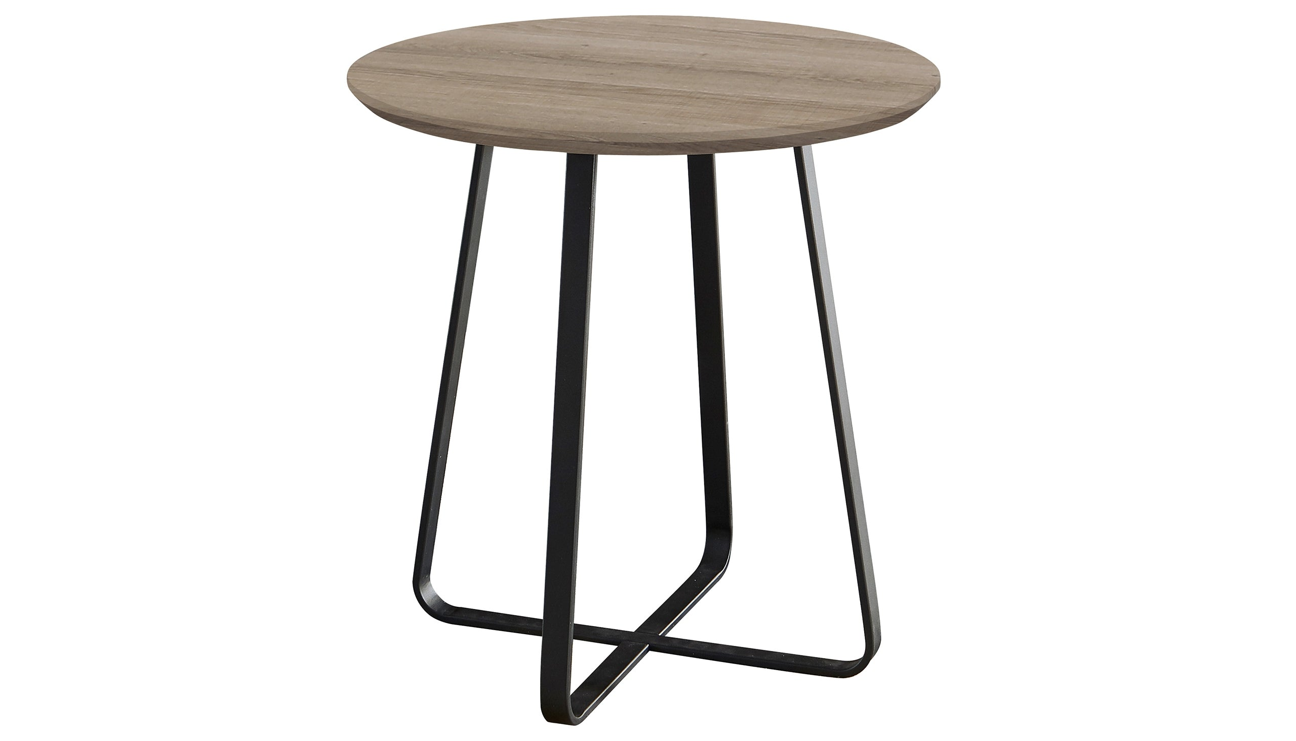 Tetro Grey Wood Effect Round Wine Table - AHF Furniture & Carpets