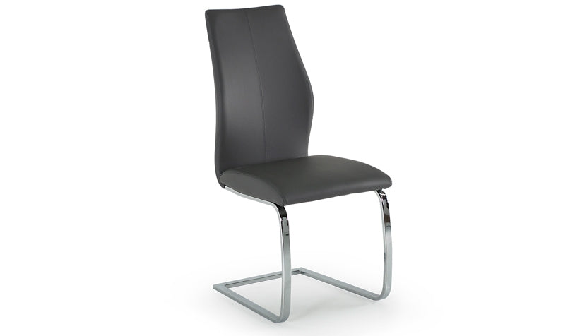 Stockholm Dining Chair with Stainless Steel Legs - AHF Furniture & Carpets