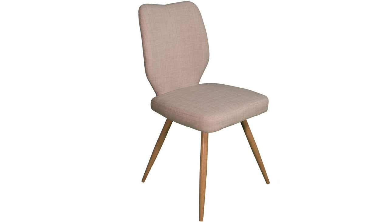 Enka Dining Chair in Ivory - AHF Furniture & Carpets