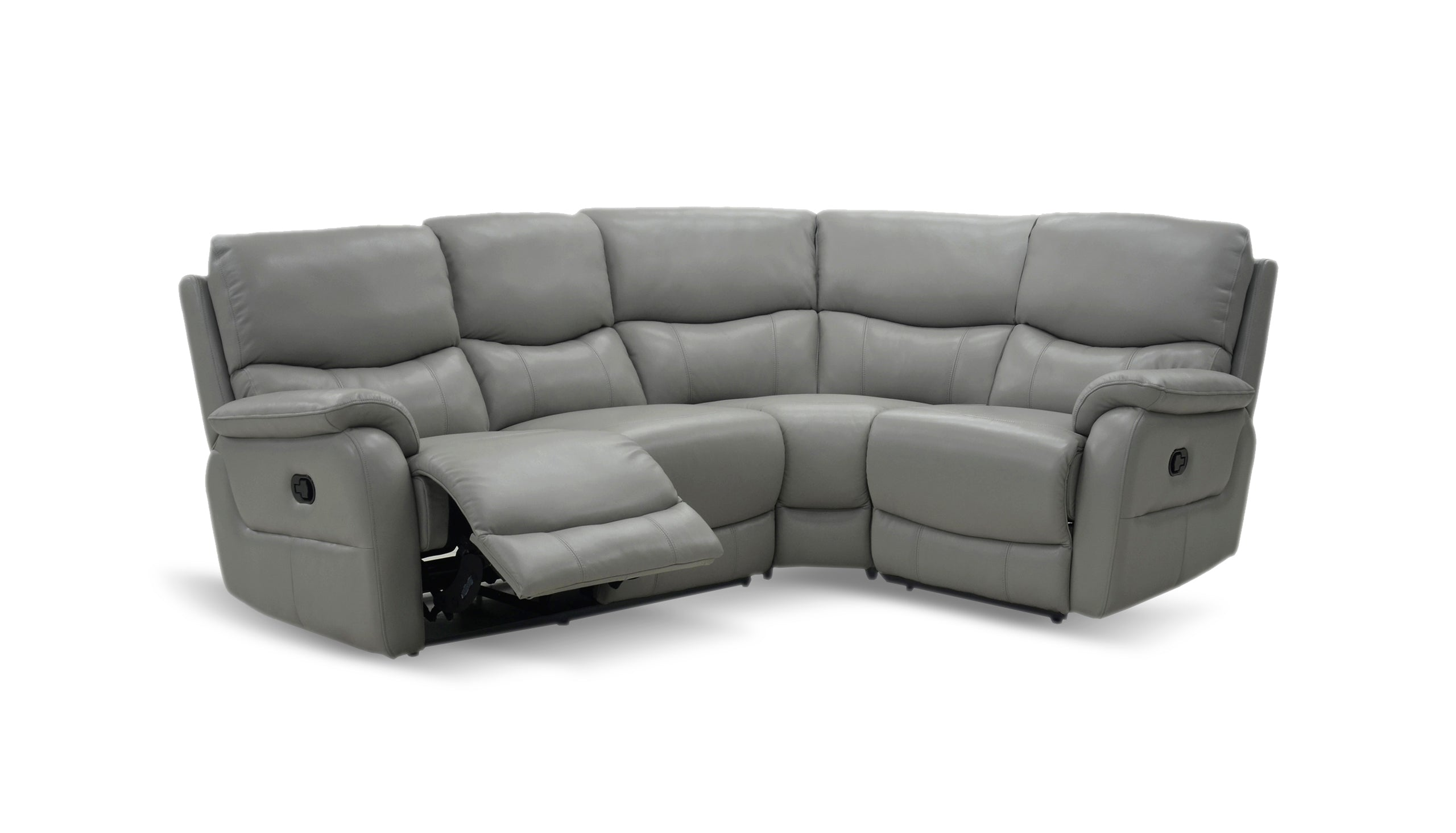 Evelyn Left Hand Facing 2 Corner 1 Manual Recliner Sofa in Leather