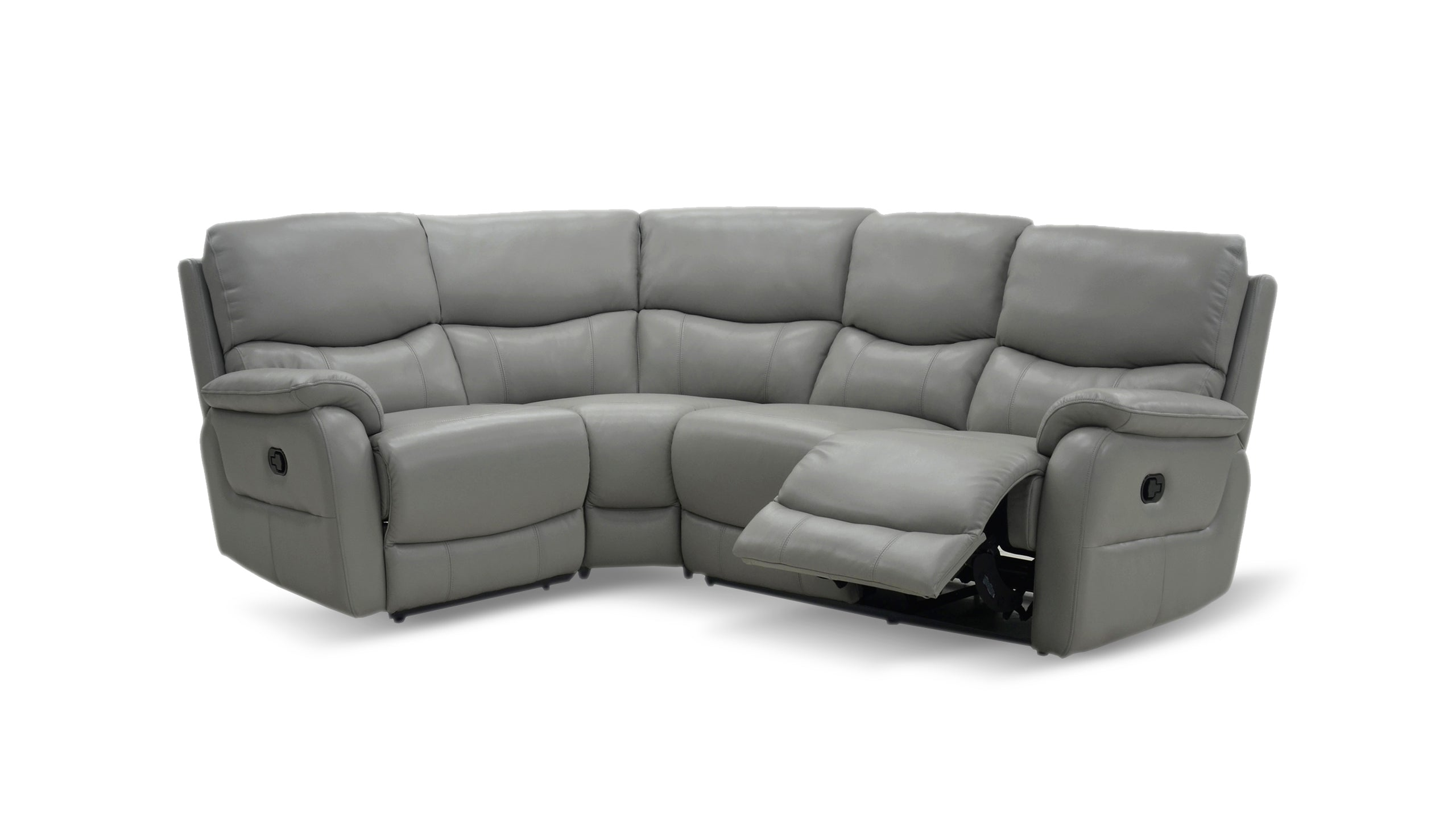 Evelyn Right Hand Facing 2 Corner 1 Manual Recliner Sofa in Leather