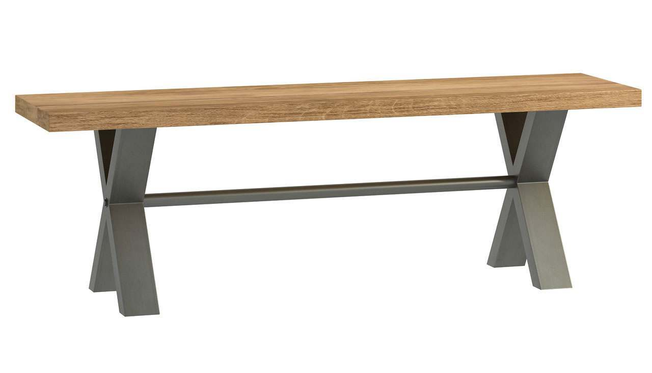 Brooklyn Oak Small Bench - AHF Furniture & Carpets