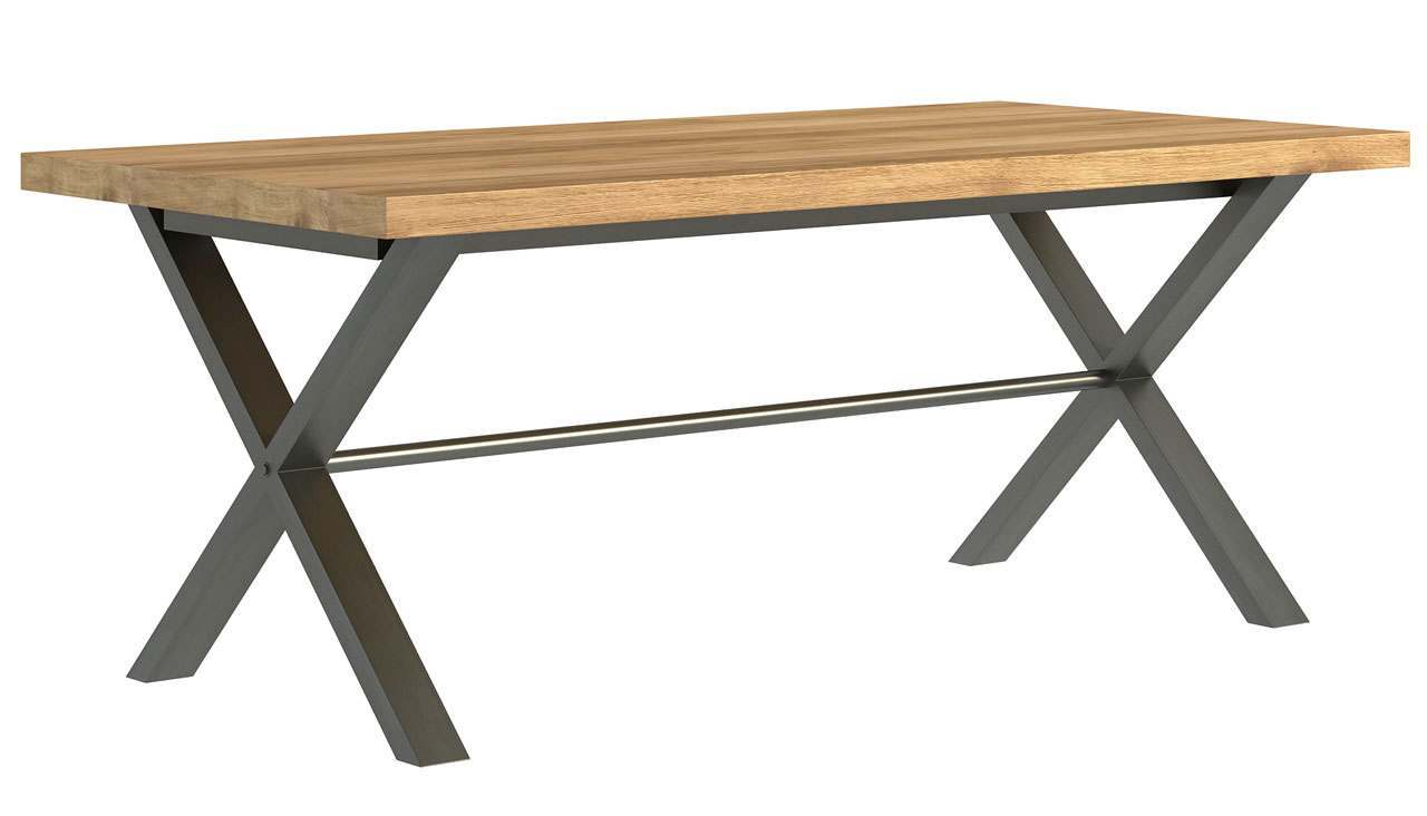 Brooklyn Oak Large Dining Table - AHF Furniture & Carpets