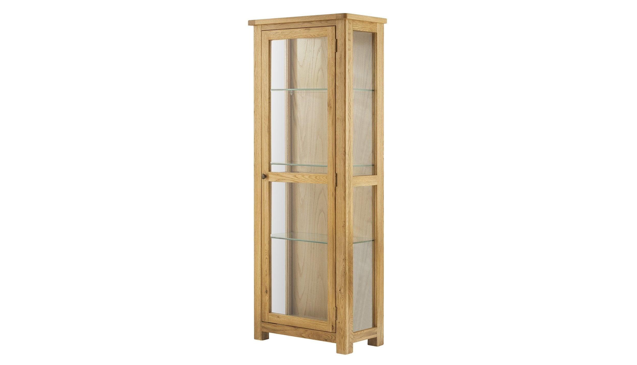 Arlington Oak Display Cabinet - AHF Furniture & Carpets