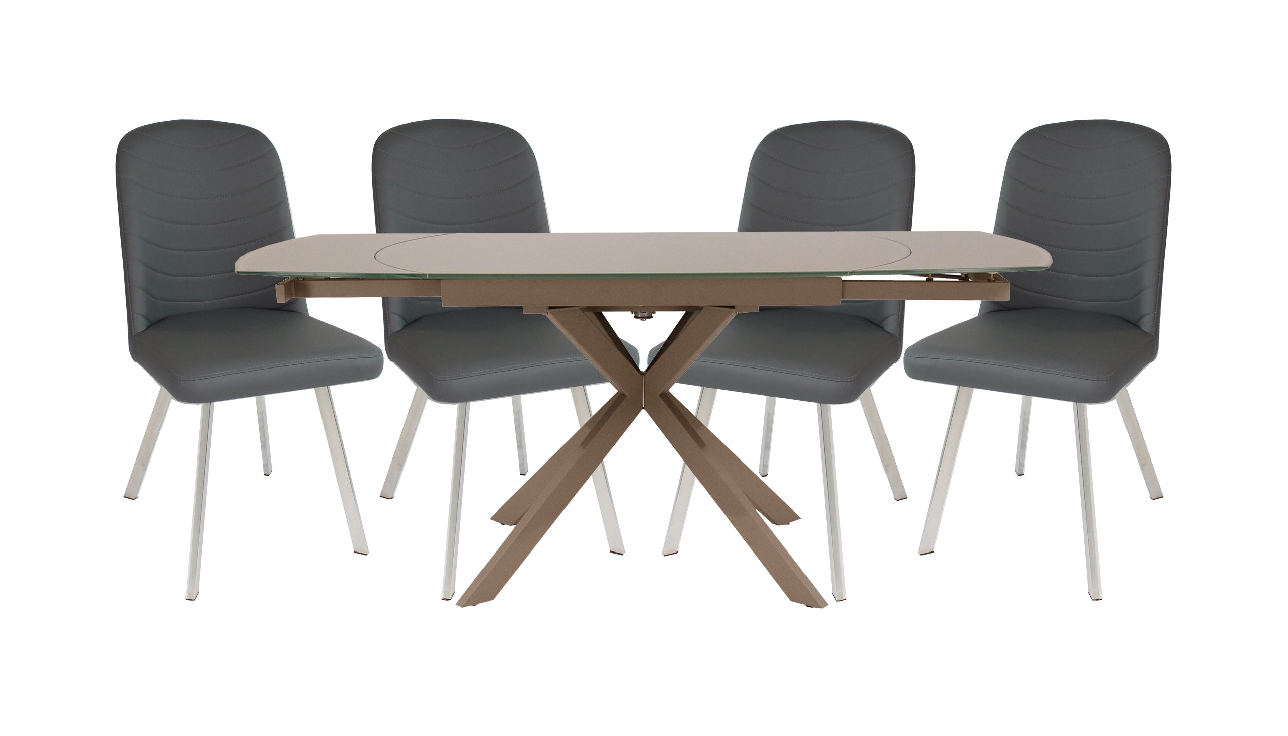 Evolution Motion Dining Table with 4 Dining Chairs