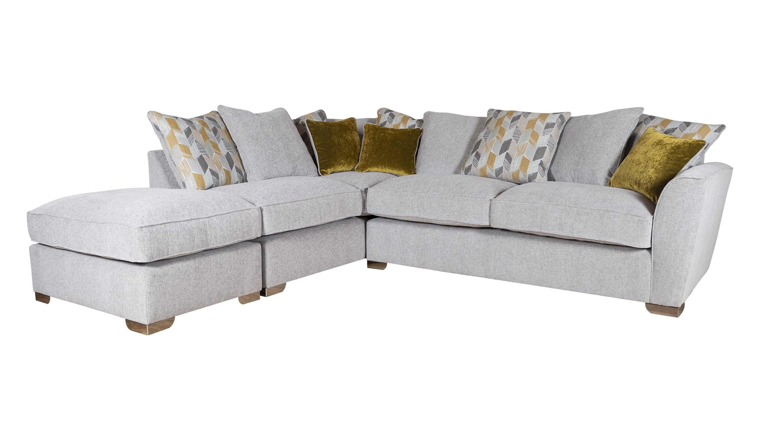 Hepburn Scatter Back RHF Corner Sofa with Stool - AHF Furniture & Carpets