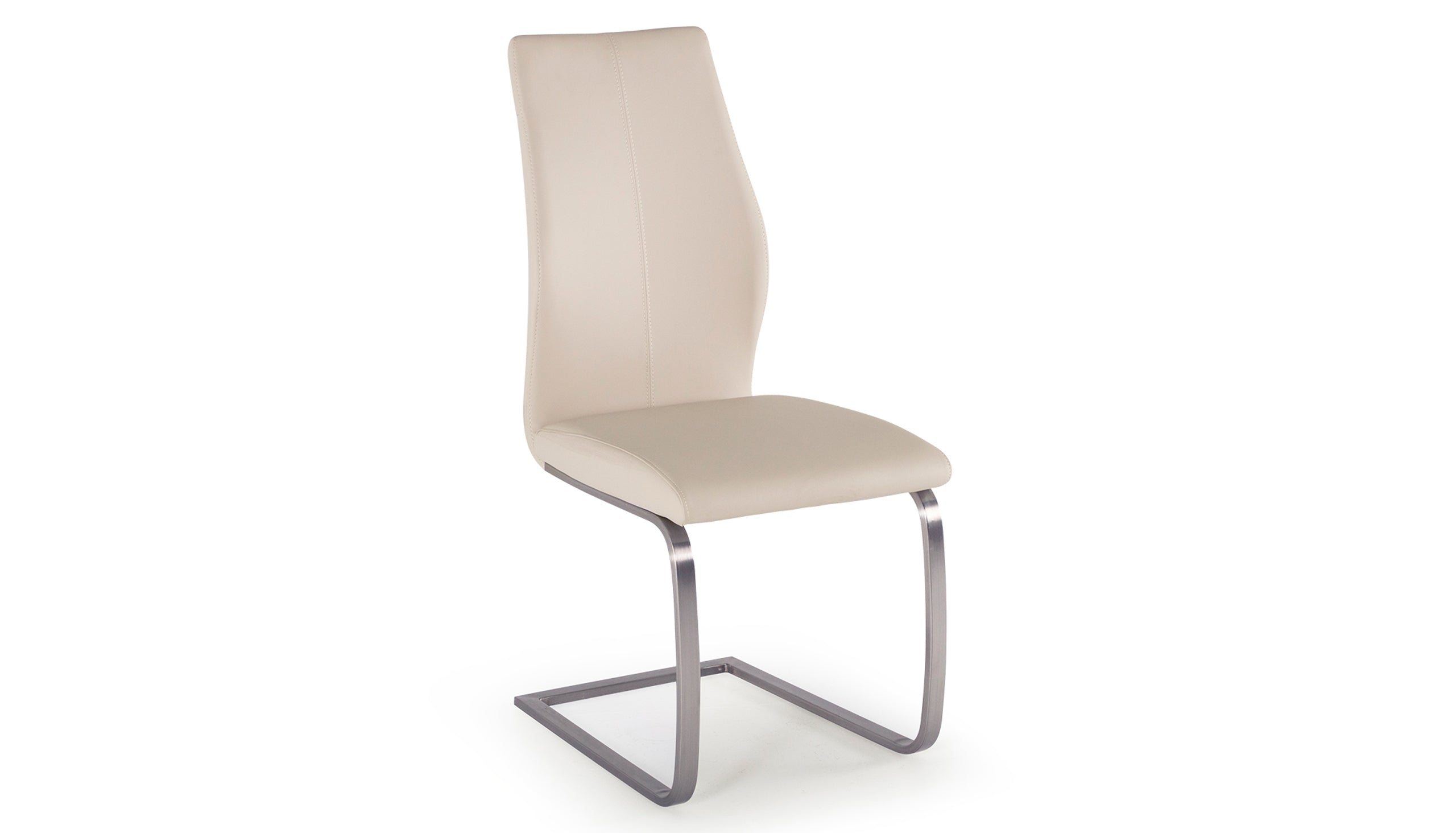 Stockholm Dining Chair with Brushed Steel Legs - AHF Furniture & Carpets