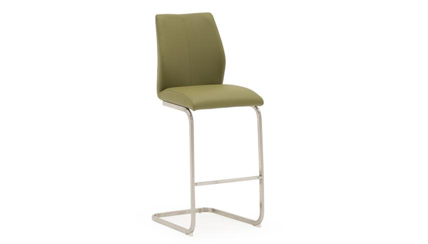 Stockholm Bar Stool with Brushed Steel Legs - AHF Furniture & Carpets