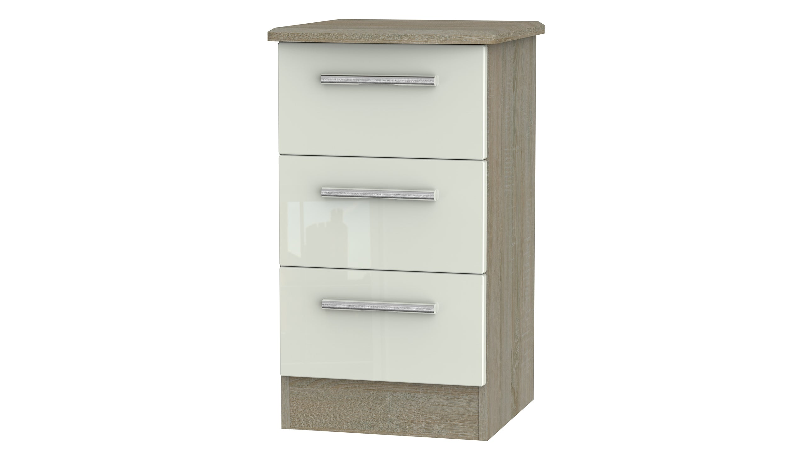 Burnham 3 drawer bedside table - AHF Furniture & Carpets