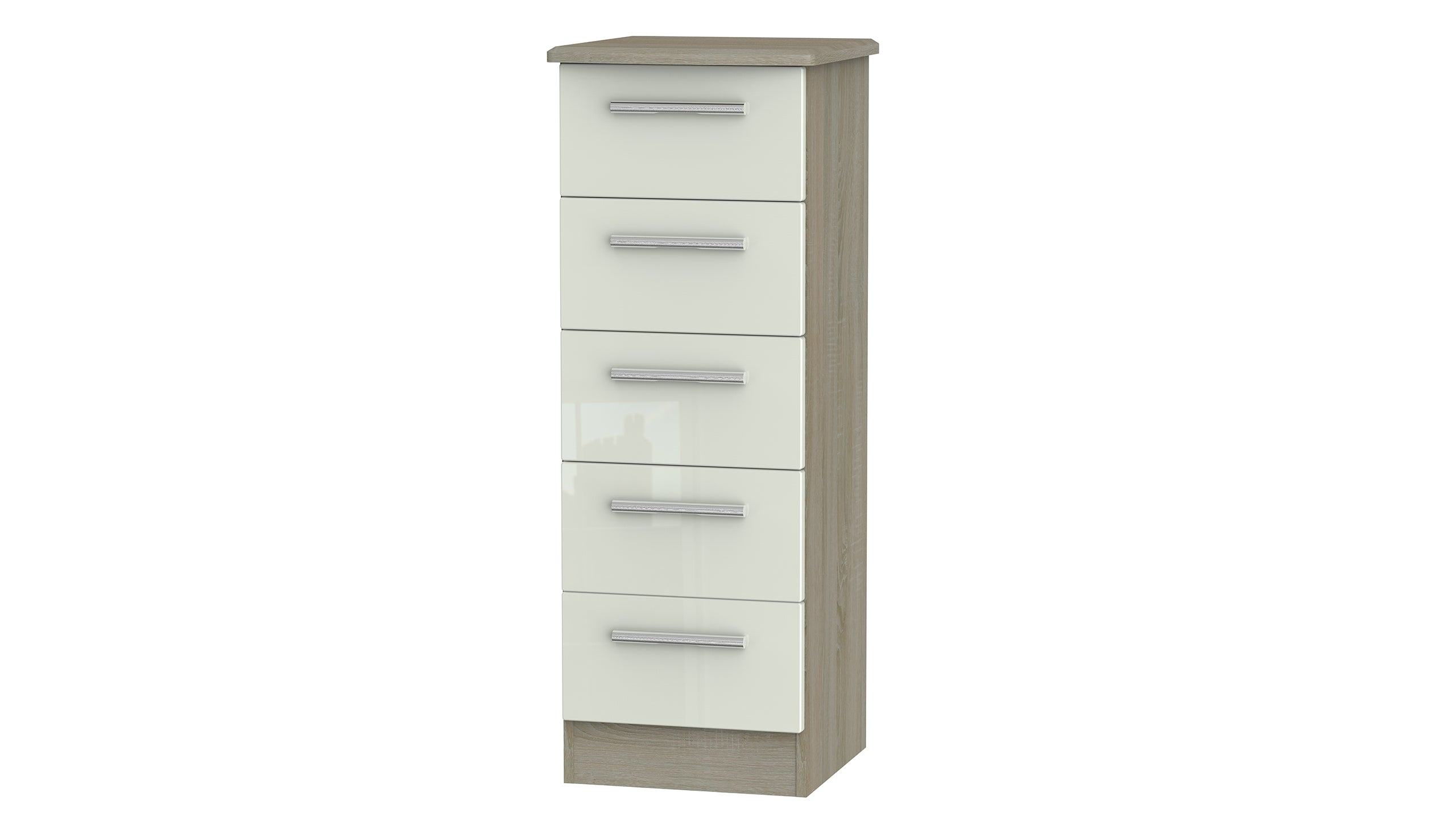 Burnham 5 drawer narrow chest - AHF Furniture & Carpets