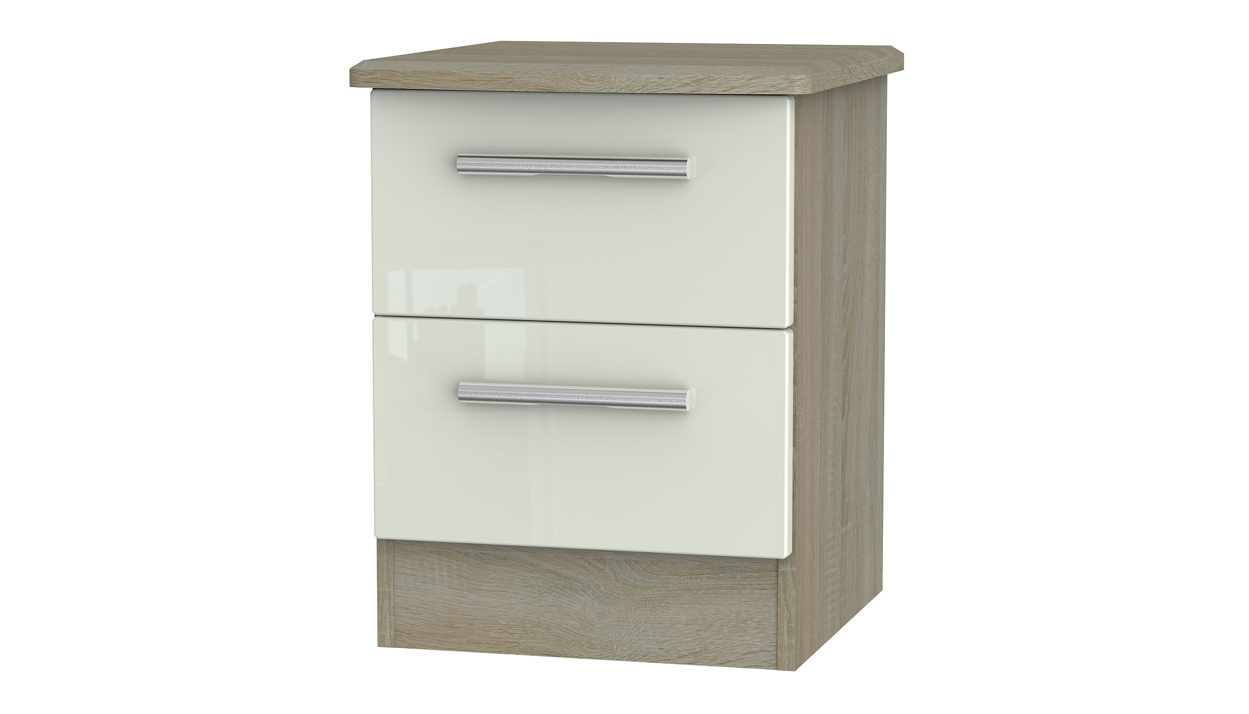 Burnham 2 drawer bedside table - AHF Furniture & Carpets