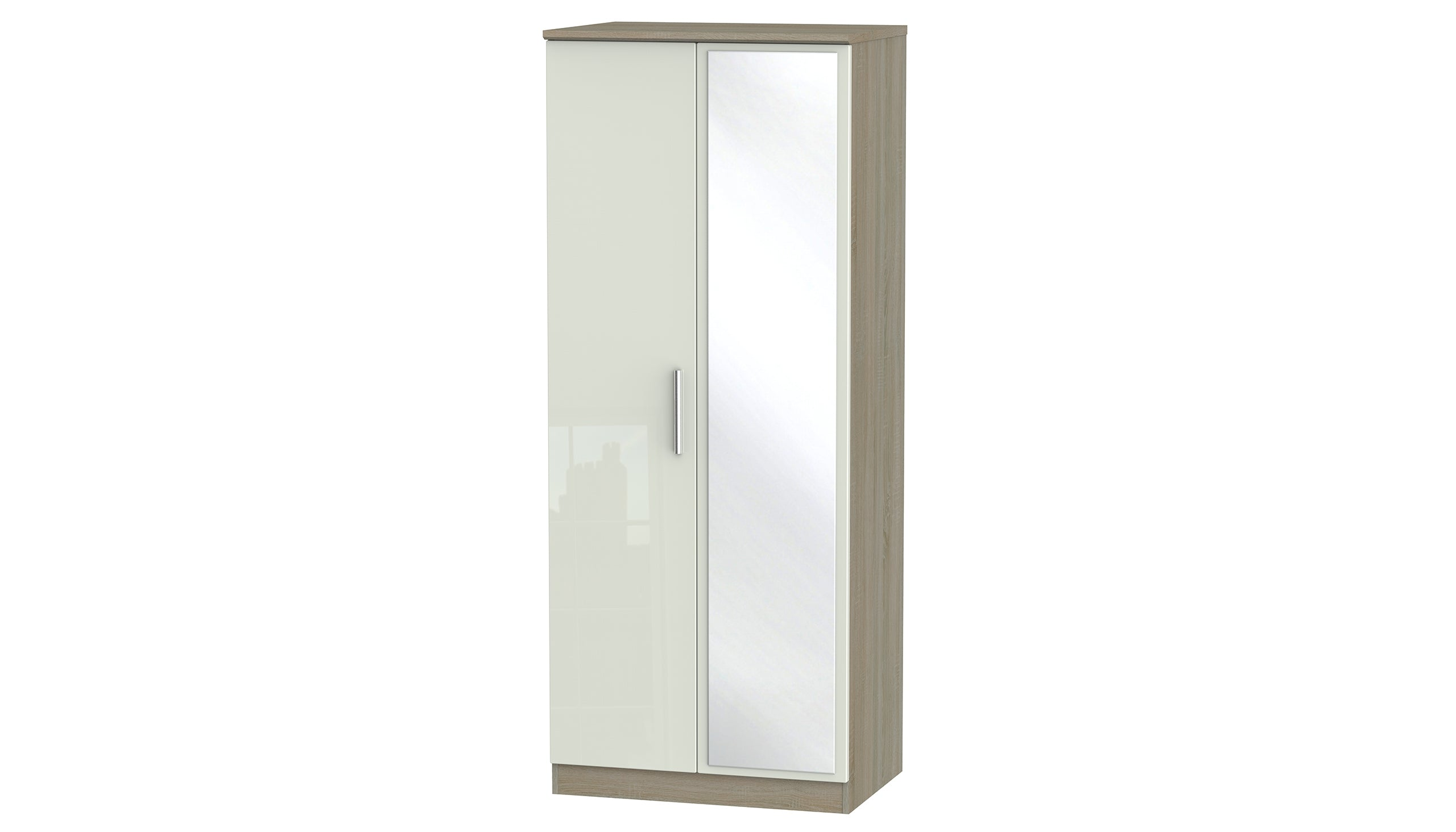 Burnham double wardrobe with mirrors - AHF Furniture & Carpets