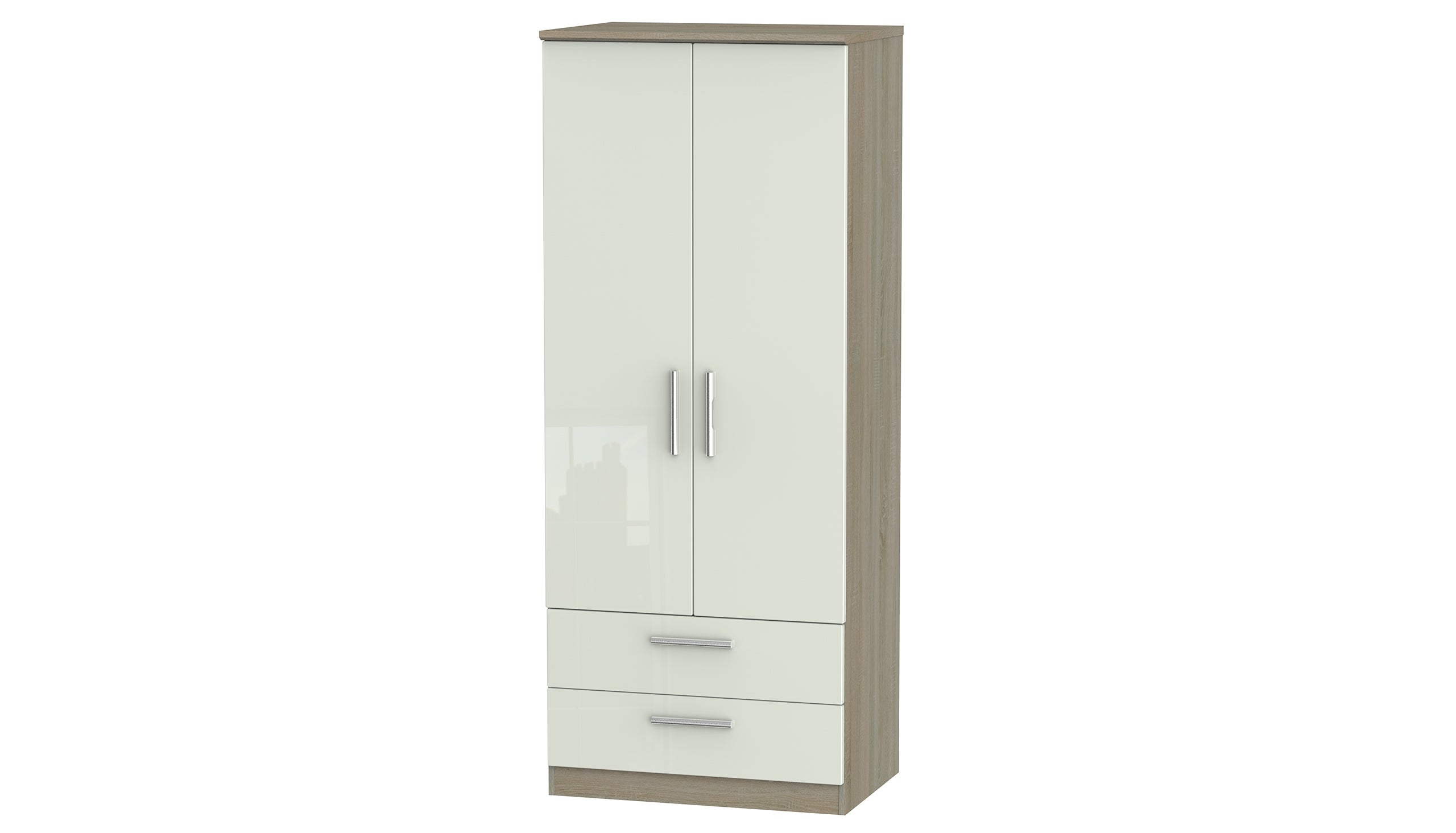 Burnham double wardrobe with 2 drawers - AHF Furniture & Carpets